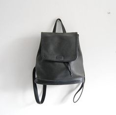 Vintage Coach Black Leather Mini Backpack 90s Costa Rica