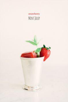 // strawberry mint julep recipe //