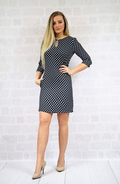 Lovely gift for sister. Cocktail Dresses – Polka-Dot Dress A-shape – a unique product by BanaNovo via en.DaWanda.com #blackandwhite