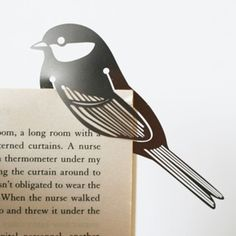 Bird metal book mark