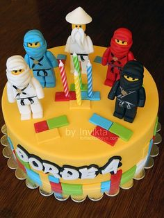 10 Lego birthday cakes that will blow your mind! Lego Ninjago birthday cake with handmade Ninjago characters! | birthday cake ideas |