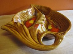 Vintage Maurice of California Leaf Shaped  Ashtray by LuckySevenVintage, $12.00