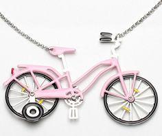 Colar de bicicleta!! que fofo!