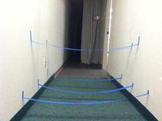 3-d Masking Tape Maze