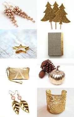 Let it gold! by Mandarina on Etsy--Pinned with TreasuryPin.com