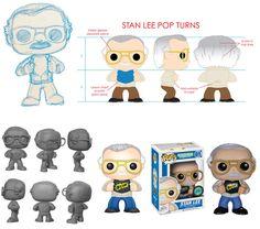 The Creation of a Pop! Character Sheet, Character Design, Stan Lee Funko Pop, Custom Pop Vinyl, Pop Collection, Geek Gear, Vinyl Dolls, Pop Vinyl Figures, Funko Pop Vinyl