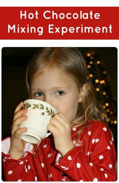 Hot Chocolate Taste Test Experiment...a fun Christmas tradition for kids