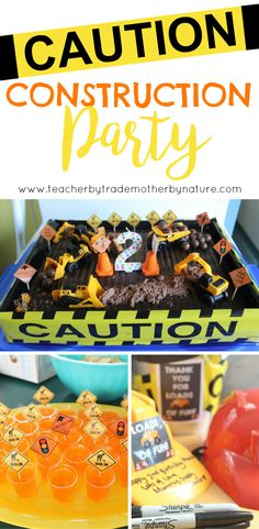 KIDS PARTIES: CONSTRUCTION PARTY - Teacher by trade, Mother by nature Party Favours, Construction Party, Teacher Blogs, Party Party, Kiwi, Party Themes, Special Occasion, Parties, Nature