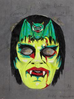 Vintage Hallowe'en mask design (via)