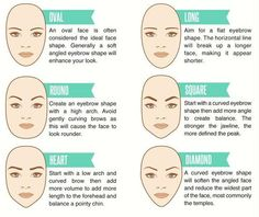 Think about your face shape when shaping those brows.