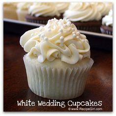 White Wedding Cupcake.