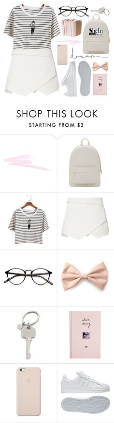 """""""It was like the sun was in your eyes, and I couldn't stop looking at you"""" by alexandra-provenzano ❤ liked on Polyvore featuring NARS Cosmetics, PB 0110, Forever 21, Paul Smith, ASOS, Black Apple and adidas"""