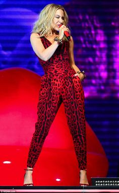 Ready to roar! Kylie Minogue stepped out on stage at the Newmarket Nights festival on Frid...