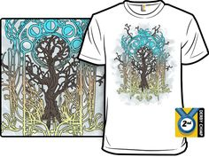 Art Nouveau Yggdrasil tshirt.  Sort of a heavy metal tree of life design.  Rock on.