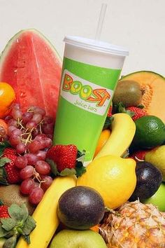 Boost Juice ... their super smoothies have the same number of kilojoules as a meal.    Make your own!!  #TheCocktailBar