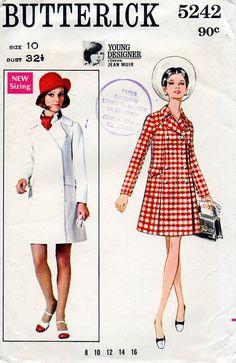 1960s Mod Coat Dress Young Designer Jean Muir by BessieAndMaive, $18.00