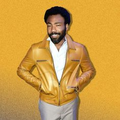 """What leather jacket season lacks in longevity it makes up for in swagger. For proof of that look to Donald Glover, who broke his out for the """"Atlanta* premiere. Donald Glover, Leicester Square, Gentleman Style, Gq, Men's Style, Dapper, Personal Style, Celebrity Style, Men's Fashion"""