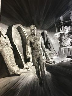 Superstar artist Alex Ross reveals first look at his Universal Monsters art series Blastr Classic Monster Movies, Classic Horror Movies, Classic Monsters, Classic Films, Monster Art, Monster Squad, Alex Ross, Horror Icons, Horror Films