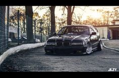 BMW E36 3 series black slammed