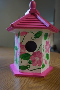 Excited to share this item from my shop: Beautiful Hand Painted Birdhouse Bird Houses Painted, Decorative Bird Houses, Bird Houses Diy, Painted Birdhouses, Birdhouse Craft, Birdhouse Designs, Birdhouse Ideas, Mosaic Birds, Ceramic Birds