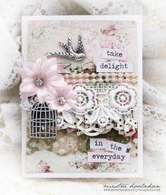 Mistra Hoolahan: Take Delight Card - Handmade Halo