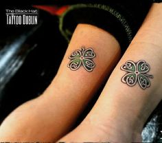 Shamerock / clover celtic design for this couple tattooYou can find irish tattoos and more on our website.Shamerock / clover celtic design for this couple tattoo Celtic Clover Tattoos, Small Celtic Tattoos, Celtic Tattoo For Women, Celtic Cross Tattoos, Irish Tattoos, Small Tattoos, Tattoos For Women, Four Leaf Clover Tattoos, Celtic Sister Tattoo