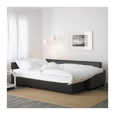 FRIHETEN Sleeper sectional,3 seat w/storage, Bomstad black Bomstad black -