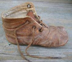 Lonely, Brown, Vintage Babies' Shoe