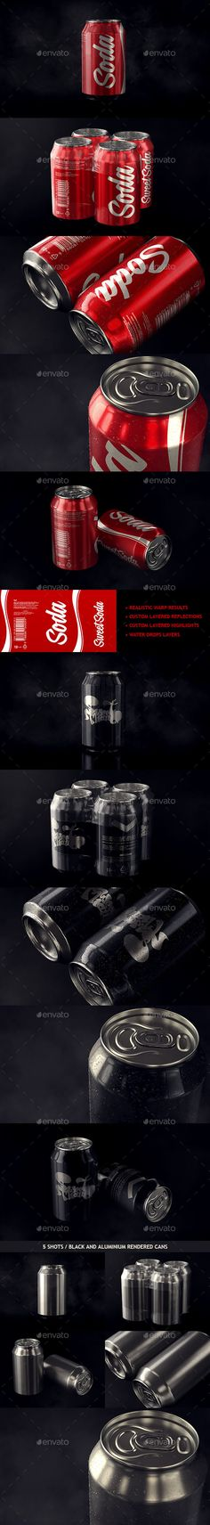 Photorealistic Aluminum Soda Can Mockup | Download: http://graphicriver.net/item/photorealistic-aluminum-soda-can-mockup/9810580?ref=ksioks