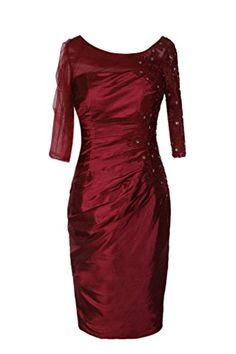 Ellames Women's Tea Length Mother of the Bride Dresses with Sleeves Burgundy US 14 Ellames http://www.amazon.com/dp/B0107YQUC0/ref=cm_sw_r_pi_dp_I07mwb07ZZDYF