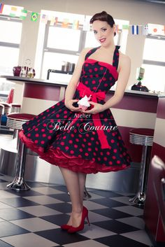 rockabilly pinup in blue cherry dress with sunglasses model juliann o tng models photographer. Black Bedroom Furniture Sets. Home Design Ideas