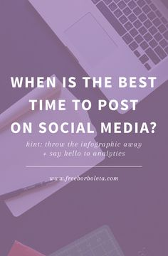When is (really) the best time to post on social media
