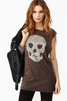 nasty gal. bone collector muscle tee. #fashion