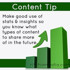 Pay attention to your stats. The will tell you what kind of content your readers like best! For more #content #marketing #tips visit http://www.ritchiemedia.com