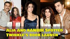 Alia Bhatt And Ranbir Kapoor Spotted Attending Twinkle Khanna Book Launch