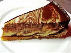 """Z ghetta blog: Fake cheesecake (Dvoubarevný tvarohový """"cheesecake"""" z bílé a hořké čokolády)"""