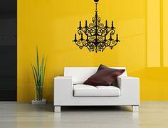Wall Vinyl Sticker Decals Mural Room Design Pattern Fashion Style Chandelier Home Decor bo514