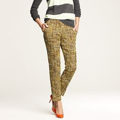 fun tweed pants for fall
