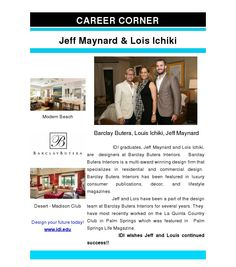 Lois & Jeff IDI Graduates, Interior Designers at Barclay Butera.