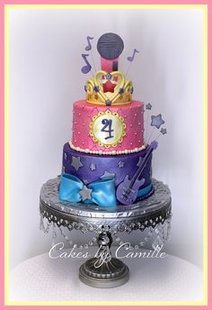 Barbie, Popstar and the Princess Cake for a little rocker!: