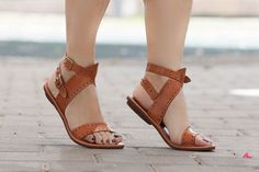 Zapatos de cuero sandalias sandalias planas sandalias
