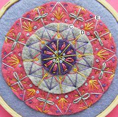 mandala felt embroidery - Pesquisa Google