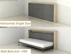 Bed/murphy Bed-horizontal Single from China Furniture & Furnishings Supplier Wall Bed China, Bed/murphy Bed-horizontal Single supplier Decorate Your Room, Guest Bed, Outdoor Kitchen Design, Furniture, Bed, Bed Unit, Diy Bed, Wall Bed, Room