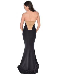 Black gold evening dresses uk