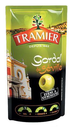 Nos olives vertes Gordal de Séville en sachet de 100g - Tramier