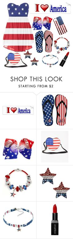 """""""I ❤️ America"""" by grace-buerklin ❤ liked on Polyvore featuring Bling Jewelry and Smashbox"""