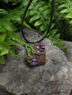 Enchanted Book Necklace  Wicca Pixie Elf Woodland Magic Pagan