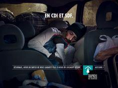 """""""En CDI et SDF"""" - Campagne de sensibilisation Fondation Abbé Pierre 2014-15"""