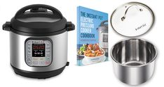 """""""Home Pressure Cooking"""" is giving away a FREE Instant Pot Electric Pressure Cooking Package VALUED at $220.   Prizes INCLUDED: Instant Pot 8 QT Pressure Cooker – Extra 8 QT Pot – Glass Lid – Paper Back Recipe Book"""