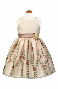Sorbet Embroidered Fit & Flare Dress (Toddler Girls & Little Girls) Toddler Girl Outfits, Toddler Dress, Toddler Girls, Kids Outfits, Fit Flare Dress, Fit And Flare, Little Girl Dresses, Flower Girl Dresses, Flower Girls